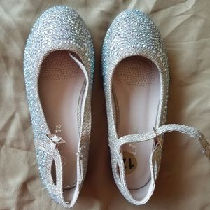 Sparkly, rhinestone, dress shoes for little girls.